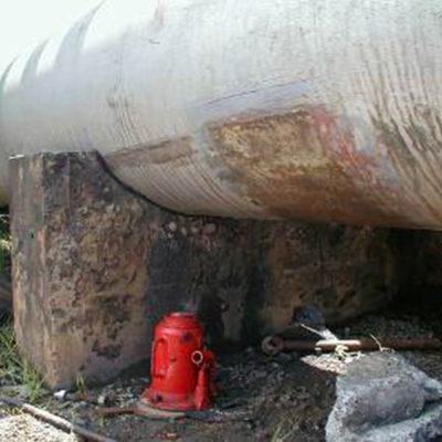 Verschlissene Rohrleitung