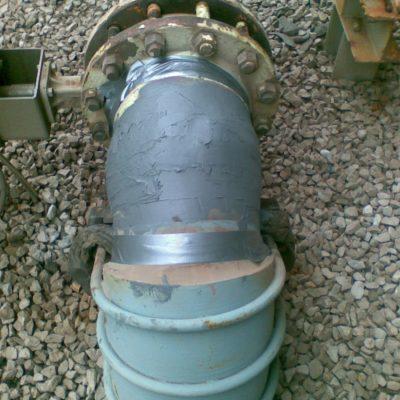Mit Belzona 1221 (Super E-Metal) verschlossenes Leck
