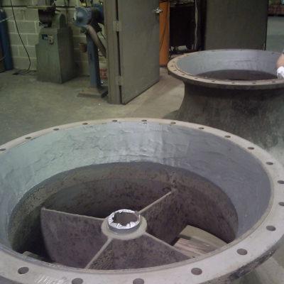 Mit Belzona 1311 (Ceramic R-Metal) wiederhergestellte Saugglocke