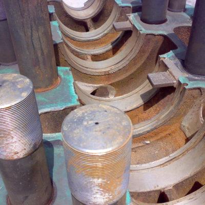 Pumpe mit Erosionsschäden