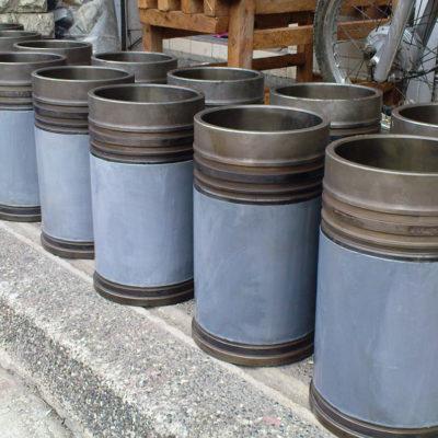 Wiederhergestellte und zum Schutz gegen Erosion und Korrosion beschichtete Zylinderbuchsen
