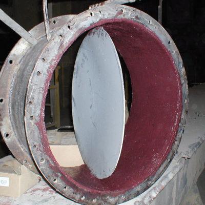 Mit Belzona 1811 (Ceramic Carbide) geschütztes Ventil