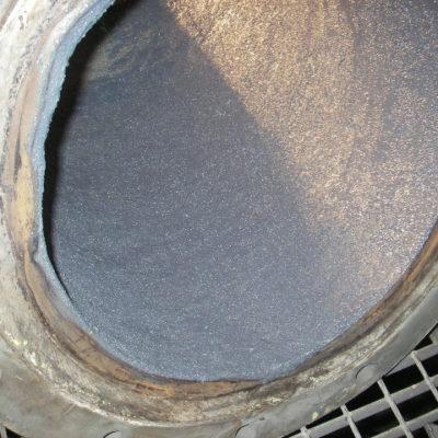 Belzona 1812 (Ceramic Carbide FP) stellt verloren gegangenes Profil wieder her und schützt gegen Abrieb.