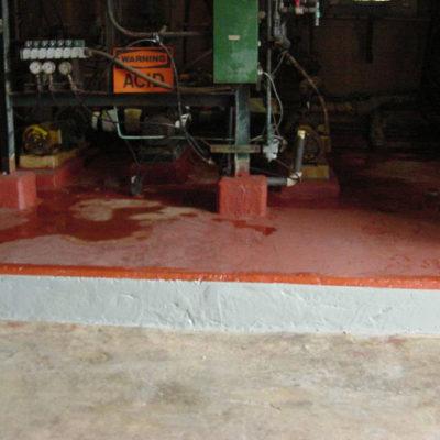 Wiederherstellung der Fläche mit Belzona 4181 (AHR Magma-Quartz)