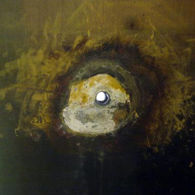 Lokale Schäden durch Säure in einem Tank mit Ebonit-Auskleidung