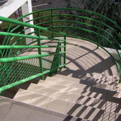 Originaltreppe im Außenbereich