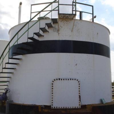 Lagertank, 10 Jahre nach der Aufbringung