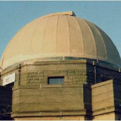 Observatoriumkuppel vor dem Auftrag von Belzona 5151 (Hi-Build Cladding)