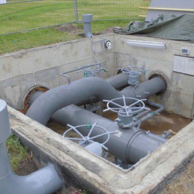 Auf kalte Teile der Rohrleitung aufgebrachtes Belzona 5831 (ST-Barrier)