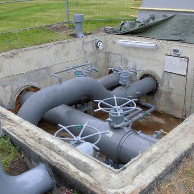 Abgeschlossene Beschichtung mit Belzona 5841 auf Rücklaufwasserleitung