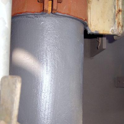 Aufgebrachte Beschichtung Belzona 5851 (HA-Barrier)