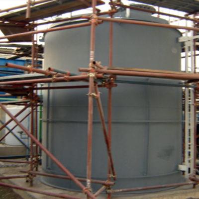 Langfristiger Korrosionsschutz eines mit Belzona 6111 (Liquid Anode) beschichteten Behälters