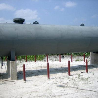 Mit Belzona 6111 (Liquid Anode) beschichteter Behälter, kathodischer Schutz der Metallfläche