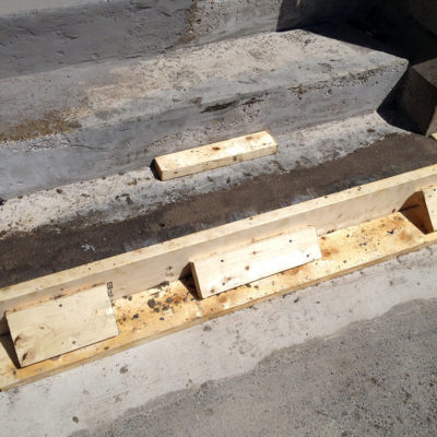 Steps restoration with Belzona 4154 and a locally sourced aggregate
